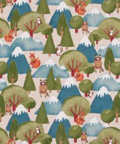 linnenlook stof dieren 032 decoratiestof gordijnstof meubelstof printstof bosdieren 1.104530.1887.525