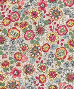 linnenlook bloemenstof printstof gordijnstof decoratiestof 1.104530.1890.655