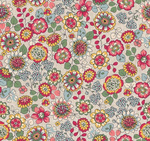 linnenlook Magic Flower stof met bloemen printstof gordijnstof decoratiestof 1.104530.1890.655