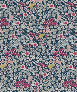 linnenlook Flower Field stof met bloemen bloemenstof printstof gordijnstof decoratiestof 1.104530.1891.465