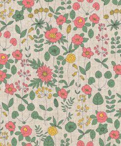 linnenlook bloemenstof printstof gordijnstof decoratiestof 1.104530.1892.525