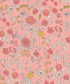 linnenlook bloemenstof printstof gordijnstof decoratiestof 1.104530.1893.350