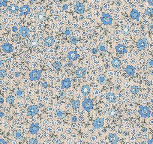 linnenlook bloemenstof printstof gordijnstof decoratiestof 1.104530.1894.460