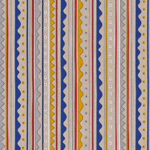 linnenlook Nautic Wave stof met strepen decoratiestof gordijnstof 1.104530.1901.655