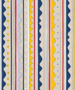 linnenlook printstof met fantasiestrepen decoratiestof gordijnstof 1.104530.1901.655