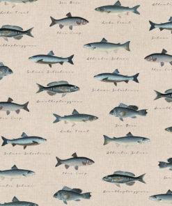 linnenlook dieren [printstof stof met vissen decoratiestof gordijnstof1.104530.1903.450