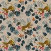 linnenlook Tiger King stof met tijgers decoratiestof gordijnstof 1.104530.1905.545