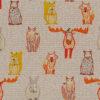 linnenlook Scandic Roots stof met bosdieren printstof decoratiestof gordijnstof 1.104530.1908.275