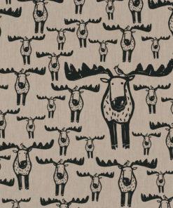 linnenlook elandstof printstof decoratiestof gordijnstof 1.104530.1909.630