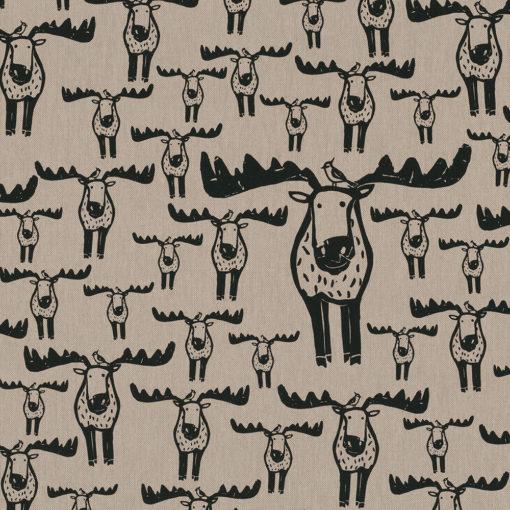 linnenlook Moose Meet stof met elanden elandstof printstof decoratiestof gordijnstof 1.104530.1909.630