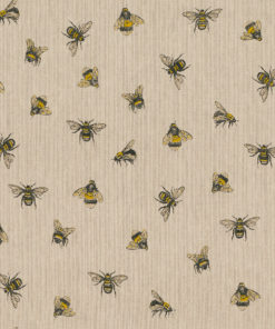 linnenlook Buzzing Bees stof met bijtjes printstof decoratiestof gordijnstof 1.104530.1911.220