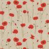 linnenlook Poppy Charm stof met klaprozen printstof decoratiestof gordijnstof 1.104530.1913.310