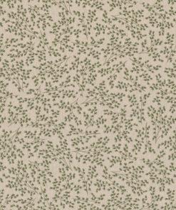 linnenlook Fragile Leaves stof met bladeren printstof met bladmotief decoratiestof gordijnstof 1.104530.1919.505