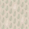 linnenlook printstof met bladmotief decoratiestof gordijnstof 1.104530.1921.505
