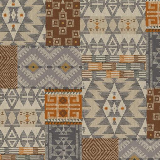 linnenlook Ethnic Art stof met grafische vormen decoratiestof gordijnstof 1.104530.1923.180