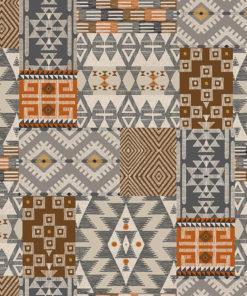 linnenlook printstof met fantasiemotief decoratiestof gordijnstof 1.104530.1923.180