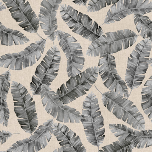 linnenlook printstof met bladmotief decoratiestof gordijnstof 1.104530.1926.650