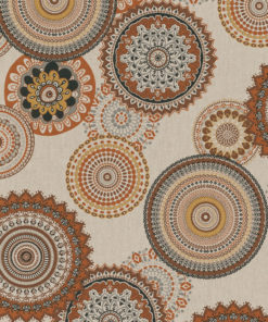 linnenlook printstof met mandalapatroon decoratiestof gordijnstof 1.104530.1928.180