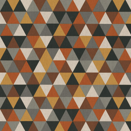 linnenlook printstof met driehoekpatroon decoratiestof gordijnstof 1.104530.1929.180