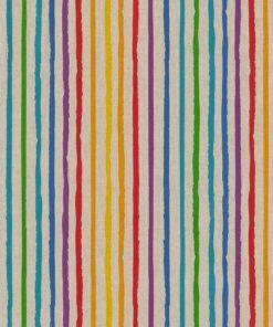 linnenlook Stripe Rainbow stof met regenboogstrepen gordijnstof decoratiestof meubelstof 1.104530.1940.655