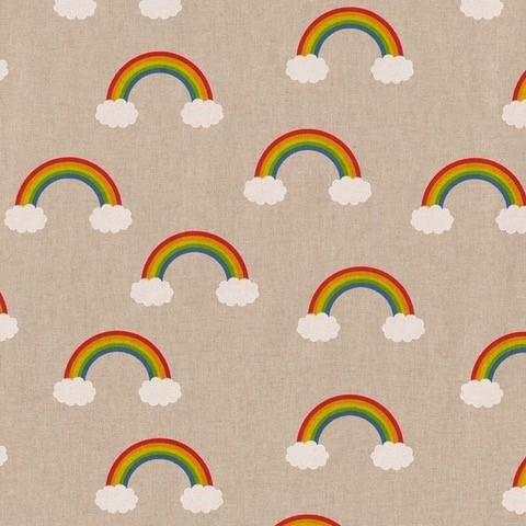 linnenlook stof met regenbogen gordijnstof decoratiestof meubelstof 1.104530.1941.655