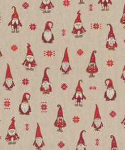 linnenlook kerststof 054 stof met kerstman decoratiestof gordijnstof 1.104530.1952.325