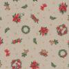 linnenlook kerststof 050 stof met kerstroos gordijnstof decoratiestof 1.104530.1961.315