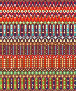 ottoman printstof 100 Mexicaanse stof gordijnstof decoratiestof 1.105030.1716.655