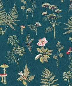 ottoman printstof stof met kruiden en paddestoelen decoratiestof gordijnstof 1.105030.1719.485