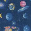 ottoman printstof met planeten print gordijnstof decoratiestof 1.105030.1747.465
