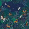 ottoman printstof met bosdieren print gordijnstof decoratiestof 1.105030.1751.525