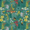 ottoman printstof met bosdieren print gordijnstof decoratiestof 1.105030.1752.530