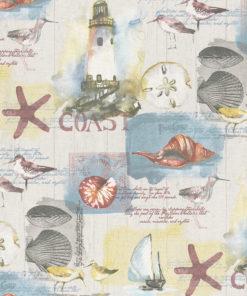 ottoman printstof met zeekust afbeeldingen print gordijnstof decoratiestof 1.105030.1753.550