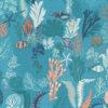 ottoman printstof met schelpen print gordijnstof decoratiestof 1.105030.1756.495