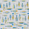 ottoman printstof met vissen print gordijnstof decoratiestof 1.105030.1757.460