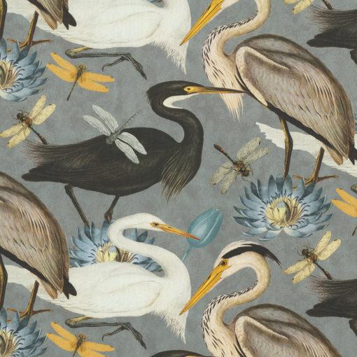 digitale printstof 049 met vogels katoenen decoratiestof gordijnstof meubelstof, 1.151030.1375.580