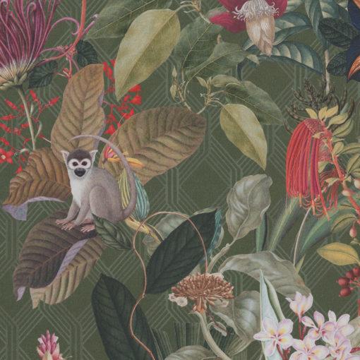 digitale printstof met apen katoenen decoratiestof gordijnstof meubelstof, 1.151030.1376.535