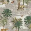digitale printstof met safari dieren katoenen decoratiestof gordijnstof meubelstof, 1.151030.1379.530