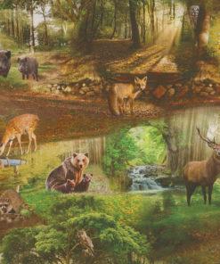 digitale printstof met wilde dieren katoenen decoratiestof gordijnstof meubelstof, 1.151030.1381.530