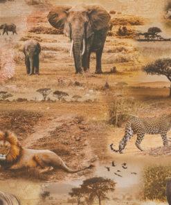 digitale printstof met wilde dieren katoenen decoratiestof gordijnstof meubelstof, 1.151030.1382.165