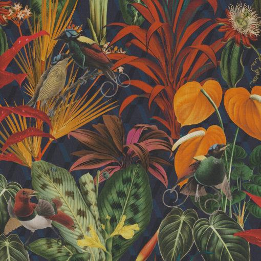 digitale printstof met planten en vogels katoenen decoratiestof gordijnstof meubelstof, 1.151030.1390.655