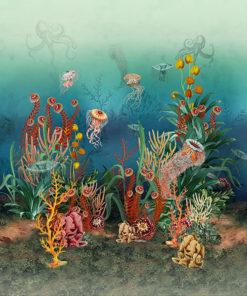 Underwater Paradise stofpanel wandkleed decoratiestof gordijnstof printstof 1.151030.1392.655