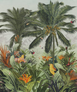 Garden of Eden stofpanel wandkleed decoratiestof gordijnstof printstof 1.151030.1393.655