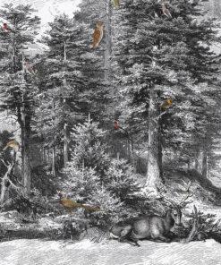 Mystic Forest stofpanel wandkleed decoratiestof gordijnstof printstof 1.151030.1394.650