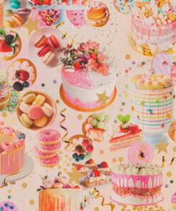 stof cake party stof met taartjes decoratiestof gordijnstof meubelstof 1.151030.1401.655