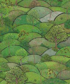 stof Lente Land stof met landschap decoratiestof gordijnstof katoenen stof 1.151030.1402.525