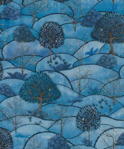 stof Winter Land stof met landschap decoratiestof gordijnstof katoenen stof 1.151030.1403.460