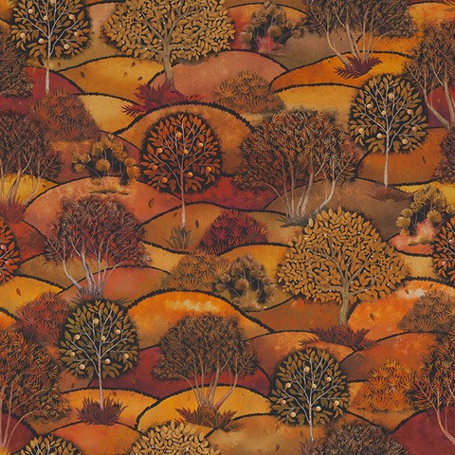 stof Herfst Land stof met landschap decoratiestof gordijnstof katoenen stof 1.151030.1404.275