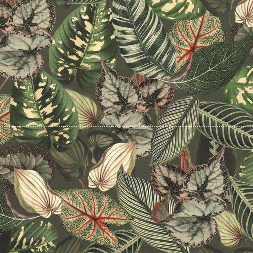 bedrukte velvet met bladeren printstof gordijnstof decoratiestof meubelstof 1.152520.1025.540