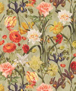 velvet met bloemen meubelstof gordijnstof decoratiestof velvet stof kopen fluweel stof kopen veloursstof kopen 1.152520.1027.655
